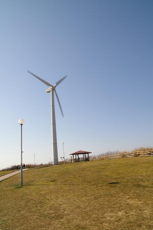 宮 川公園の巨大な風車