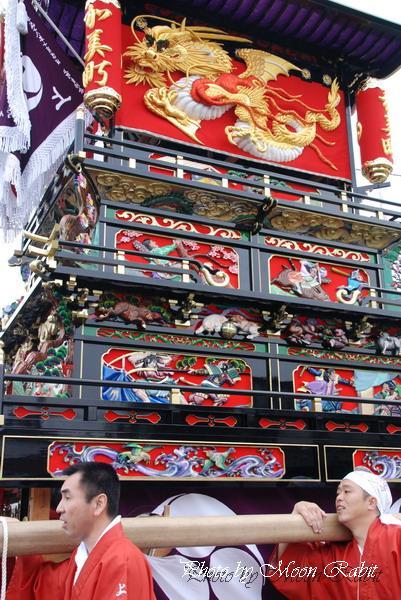 07'石岡神社祭礼 本殿祭 上町(加美町)だんじり(屋台)