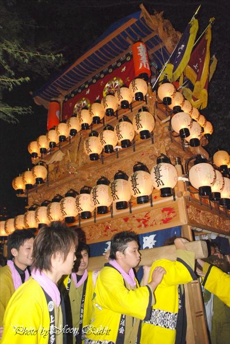 上喜多川だんじり(屋台) 2007 伊曽乃神社祭礼 宮だし