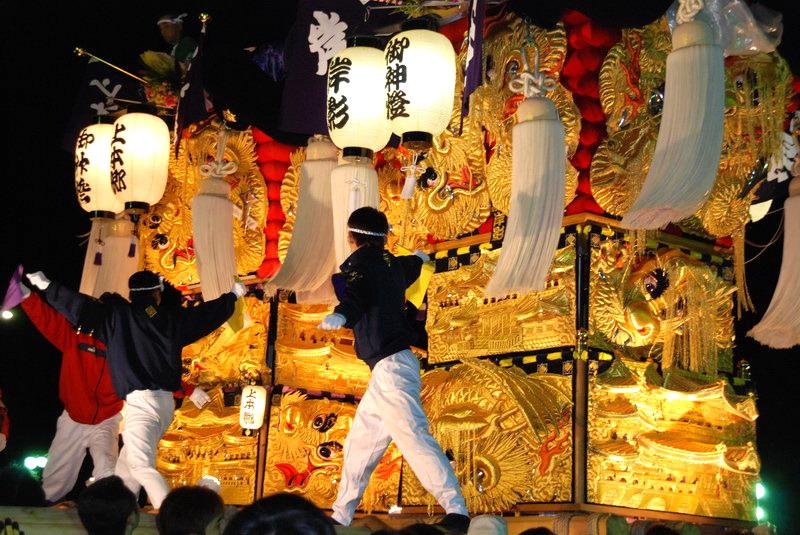 2007 大生院前夜祭 太鼓台4台のかき比べ