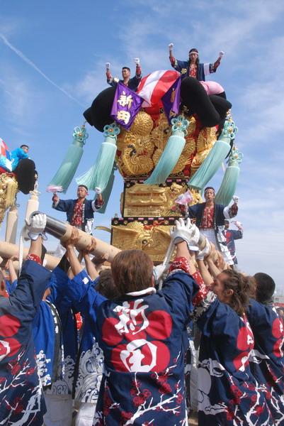 07'新居浜市制70周年記念統一かき比べ 国領川河川敷会場にて