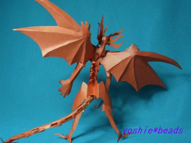 折り 折り紙 : 折り紙ドラゴンの作り方 : yoshiebeads.blog69.fc2.com