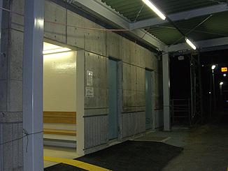 駅舎ホーム部分