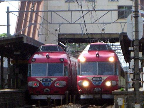 名鉄7000系×2@美合駅