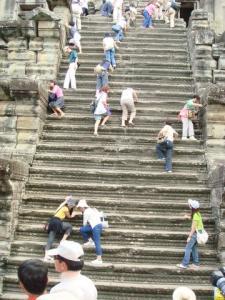 初めて見た階段