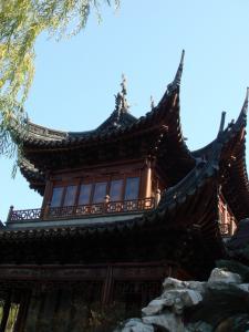 静観堂の屋根
