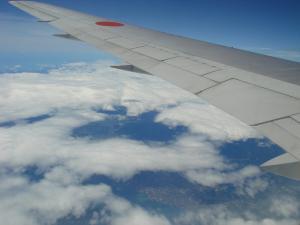 行きの飛行機