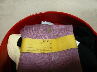 11.15靴下ピンク