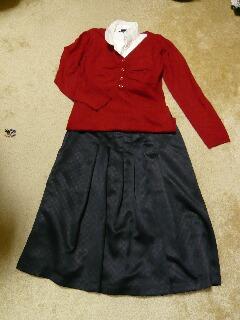 11.21赤いセーター