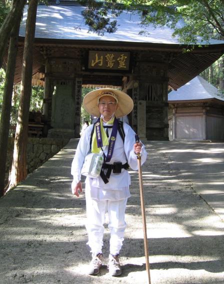 鶴林寺にて