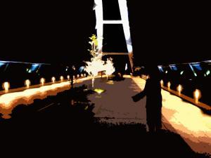 ライトアップされた橋