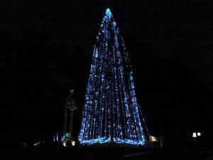 八ヶ岳のクリスマスツリー