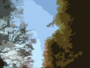 秋の空(切り絵)