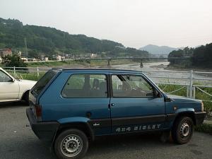 パンダと富士川