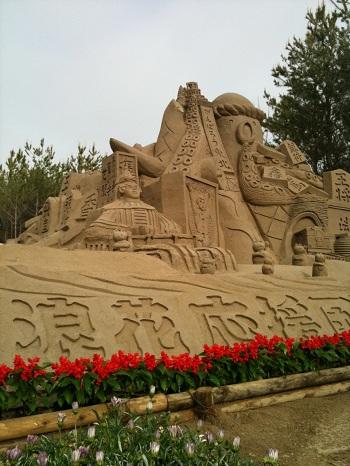 01吹上浜の「砂の祭典2011」、吹上浜は鹿児島にあって、日本で三番目の砂丘