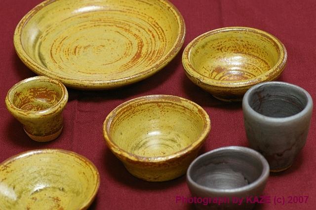 自作の陶芸