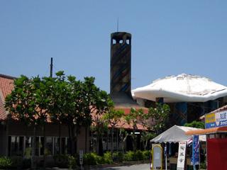 琉球ガラス村のガラスるつぼの煙突